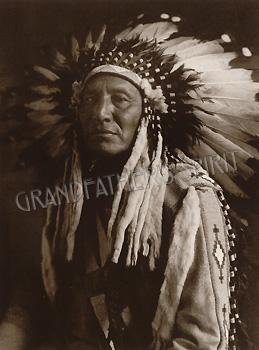 Chief in Full Headdress