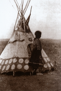 Lakota Child and Tipi