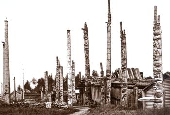Totem Poles on Haidi Gwaii