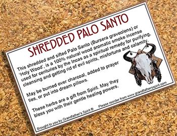 Shredded Palo Santo