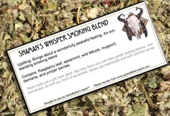 Shaman's Whisper Smoking Blend