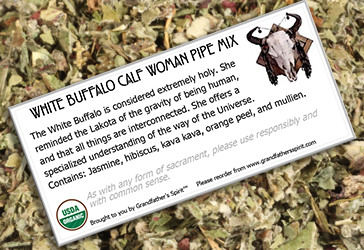White Buffalo Calf Woman - Pipe Mix