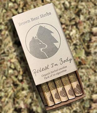 Brown Bear Herbs Astral in Body Rolled Smokes